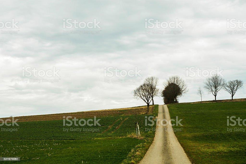 Uphill stock photo