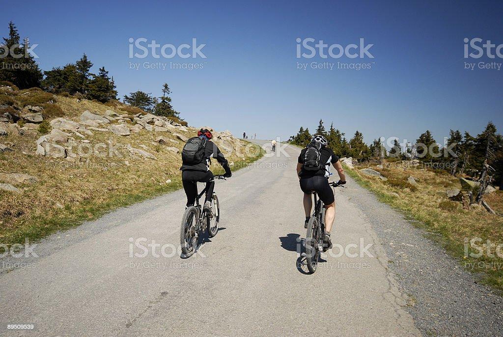 MTB Uphill stock photo