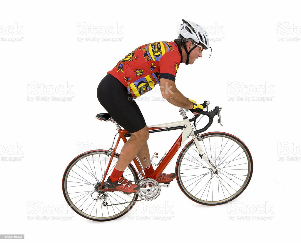 Uphill Rider royalty-free stock photo