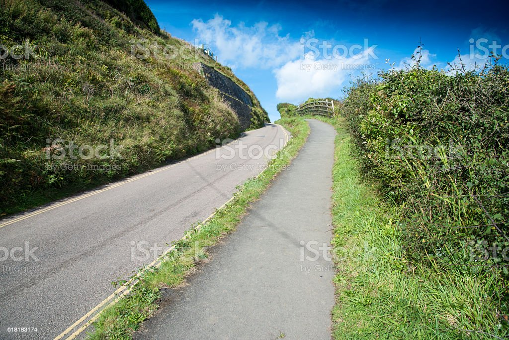 Uphill Road royalty-free stock photo