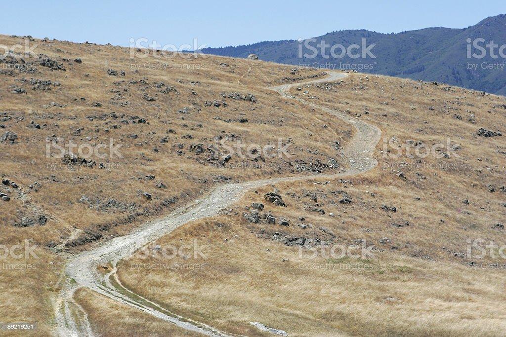 Uphill Road royalty-free stock photo