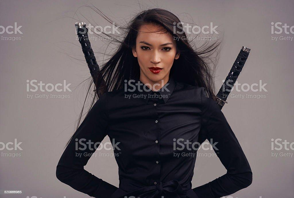 Upholding the samurai way stock photo