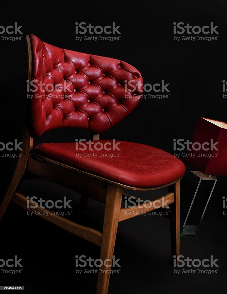 Upholstered seat stock photo