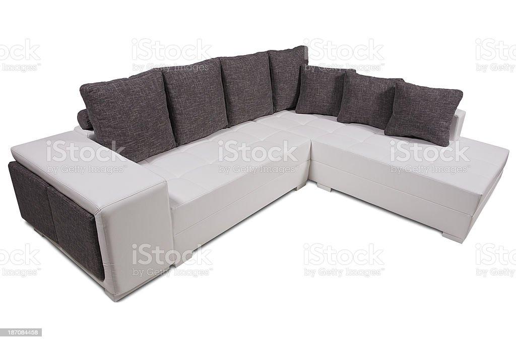 Upholstered sofa royalty-free stock photo