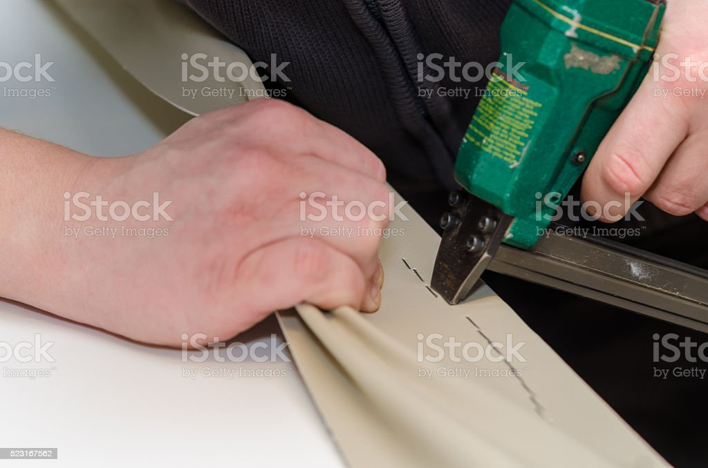 Upholstering stock photo