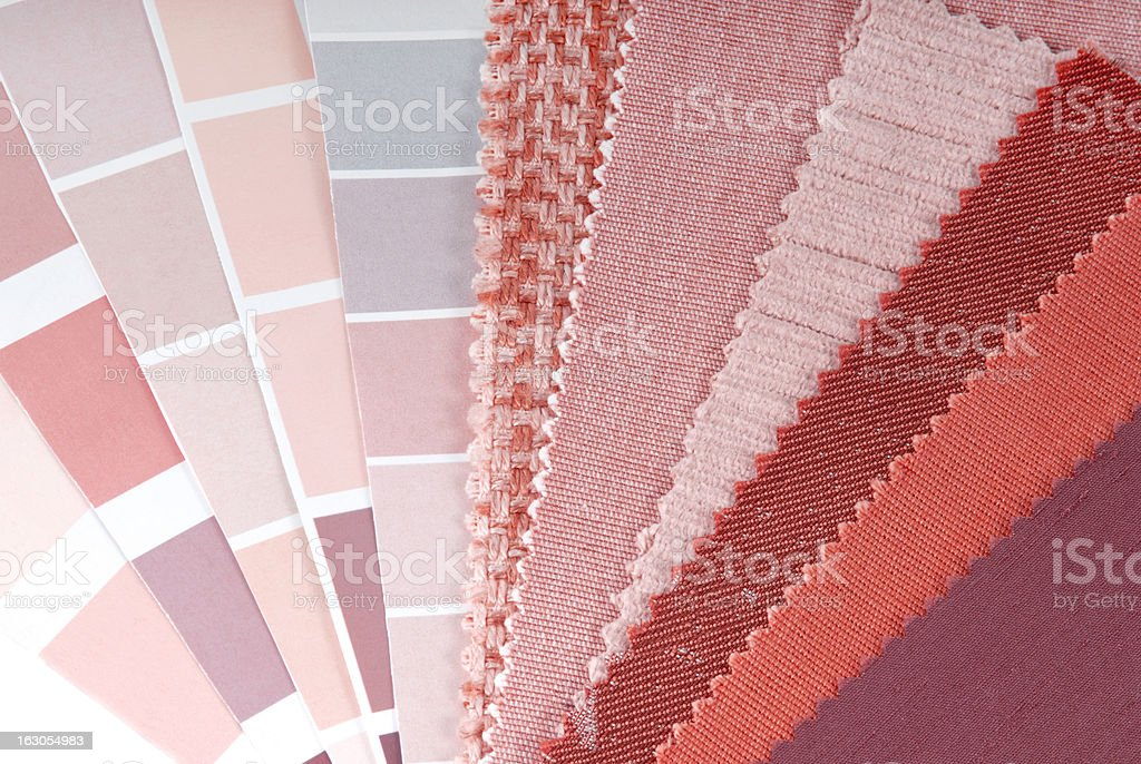 upholstery, curtain and color selection royalty-free stock photo