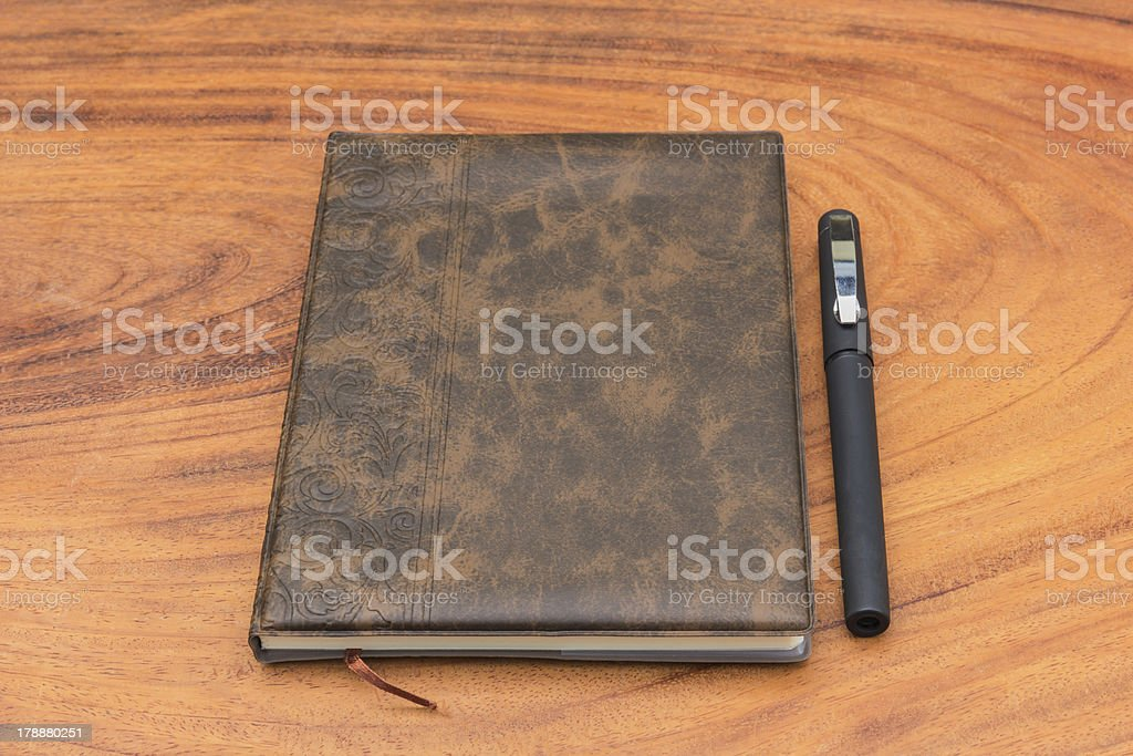 Upholstery Notebook and Pen royalty-free stock photo