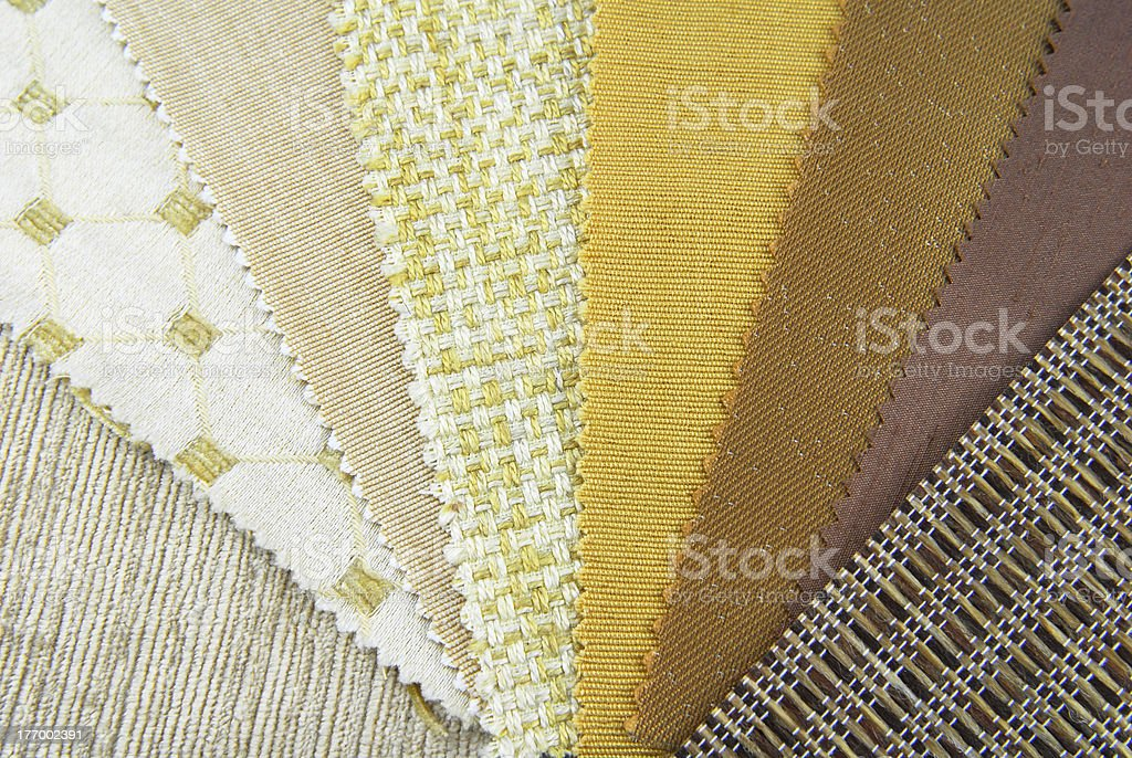 upholstery selection sampler royalty-free stock photo