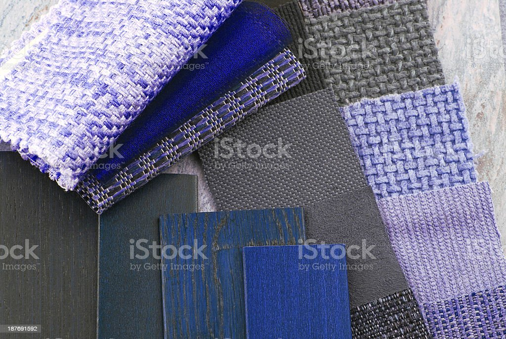 upholstery tapestry and blinds color selection stock photo