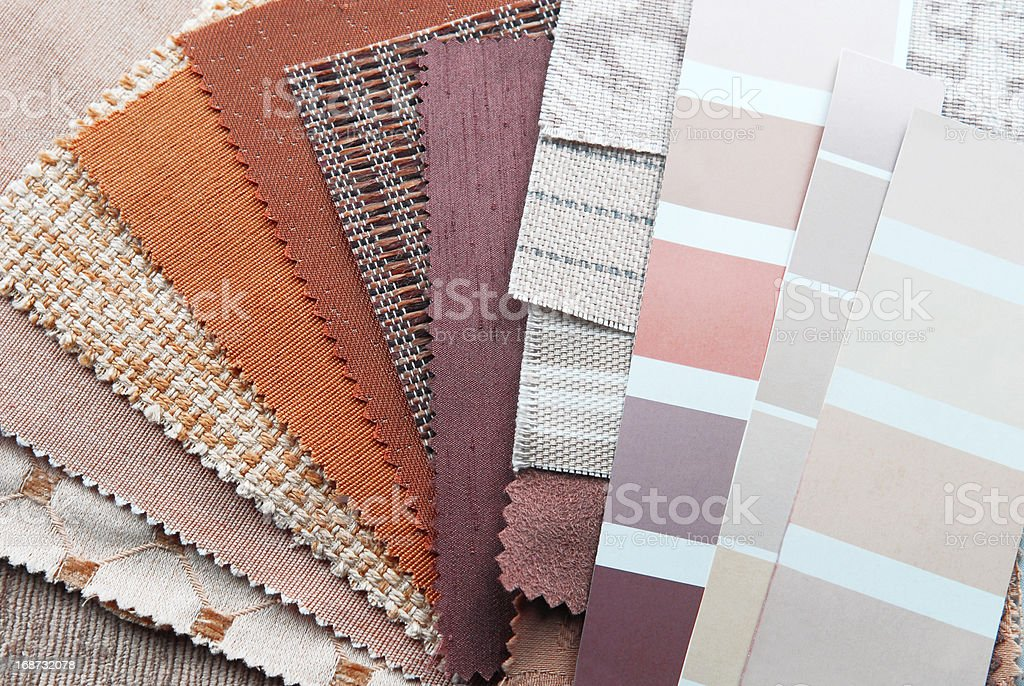 upholstery tapestry color selection royalty-free stock photo