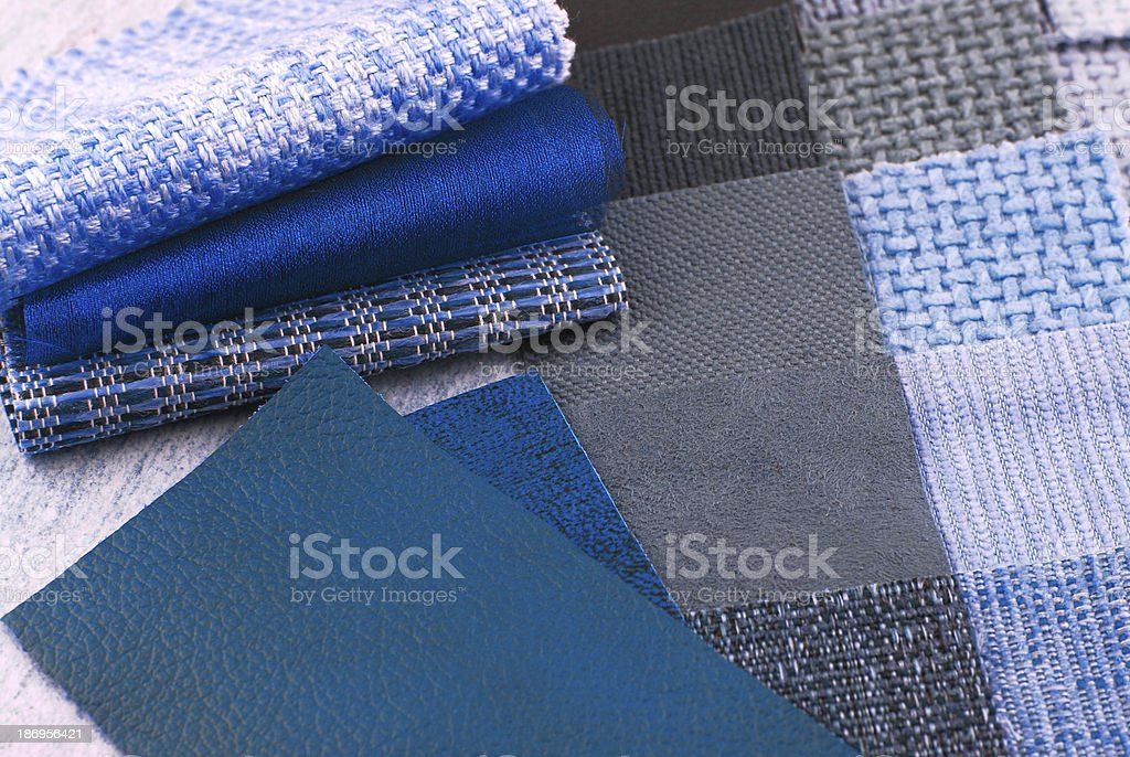 upholstery tapestry color selection stock photo