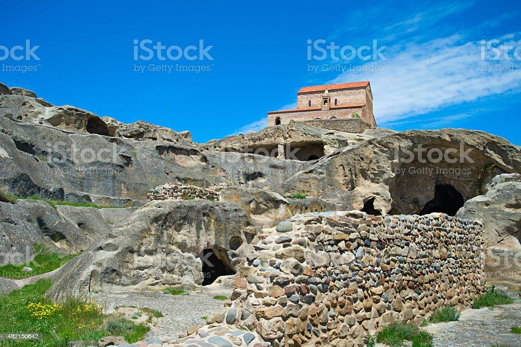 Uplistsikhe cave town, Georgia stock photo