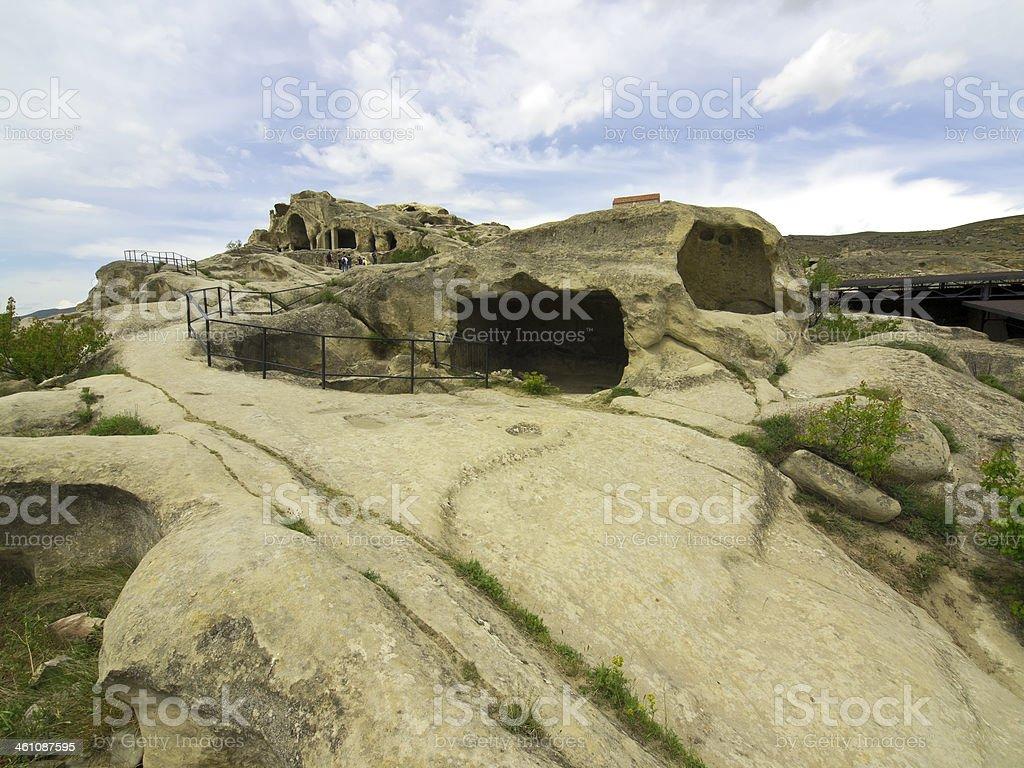 Uplistsikhe caves stock photo
