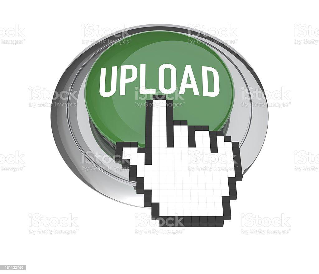 Upload Button stock photo