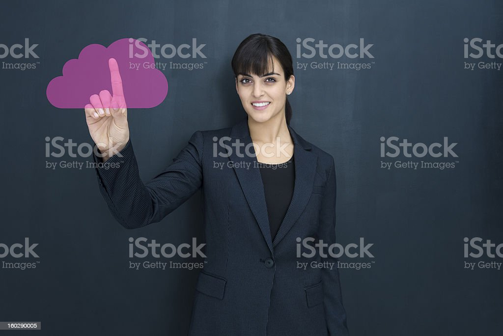 Uploading to the cloud royalty-free stock photo
