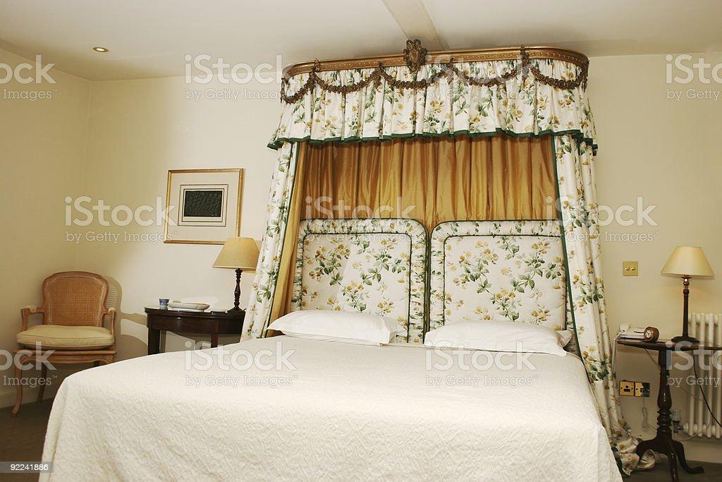 Upmarket Hotel Bedroom royalty-free stock photo