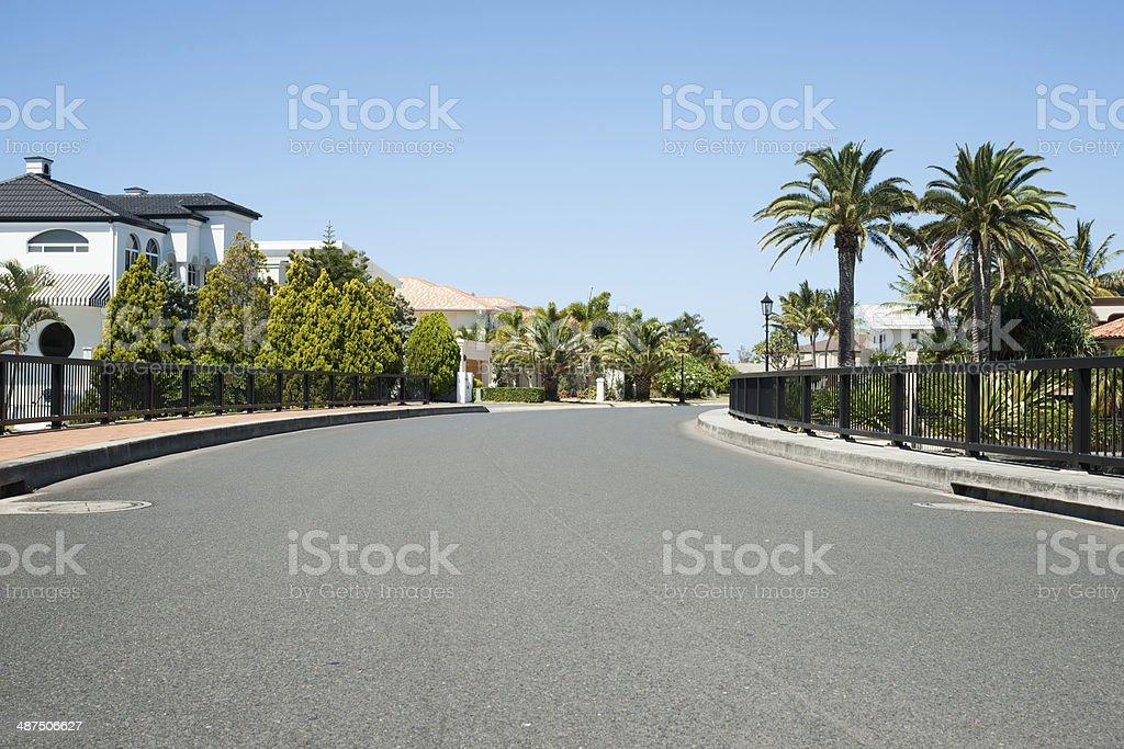 Upmarket residential street. royalty-free stock photo