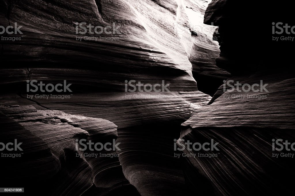 Upper Antelope Canyon in Arizona, USA stock photo