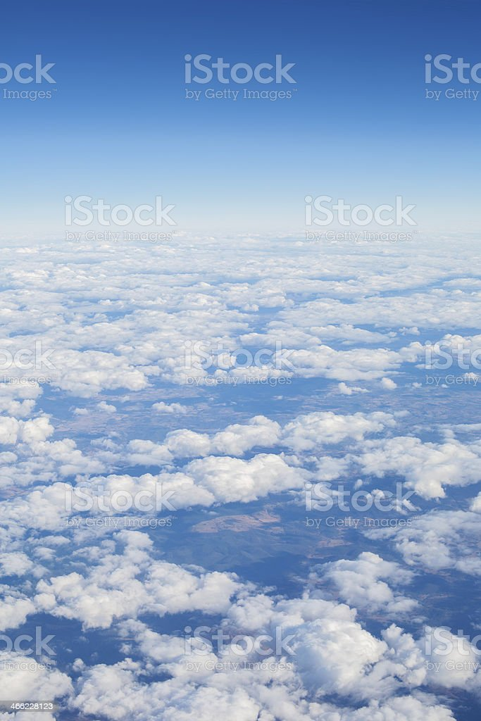 Upper Atmosphere to Space royalty-free stock photo
