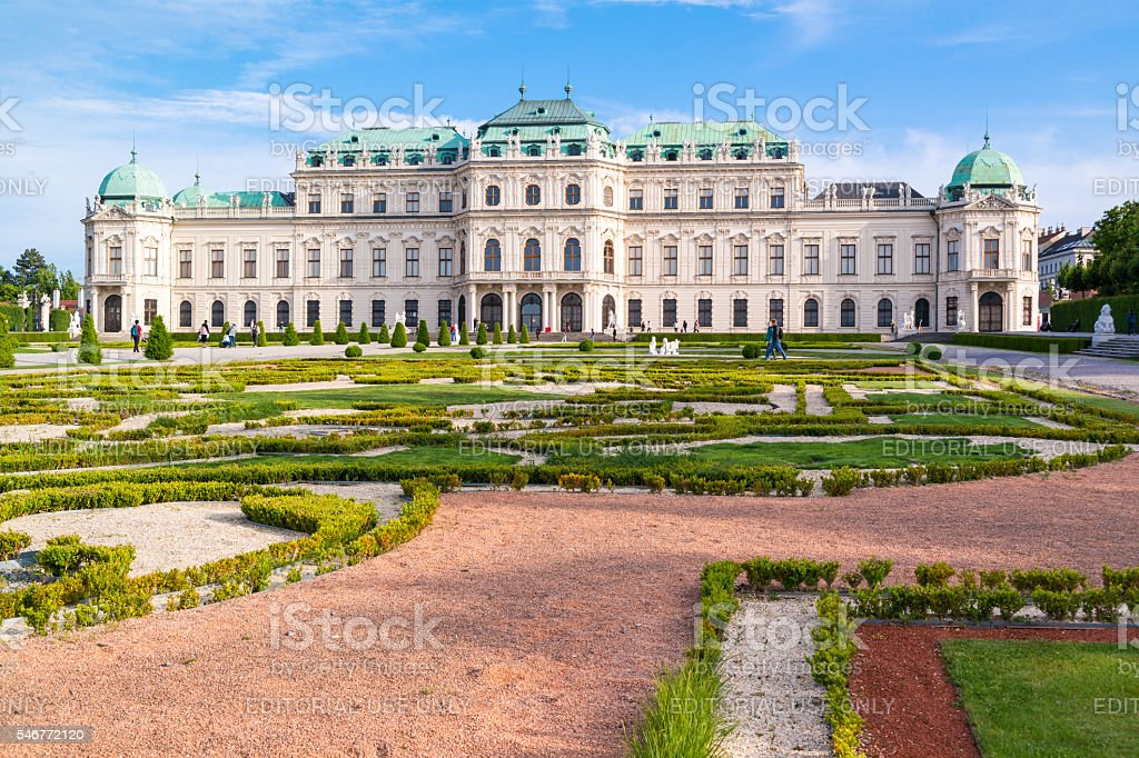 Upper Belvedere Palace and gardens in Vienna, Austria stock photo