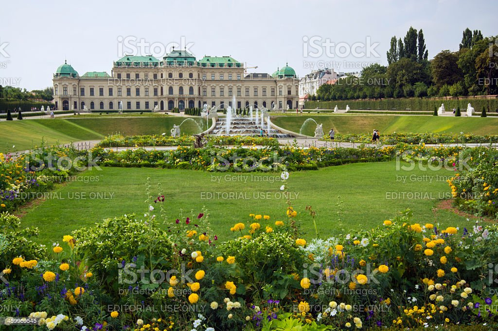 Upper Belvedere Palace and grounds in Vienna, Austria stock photo