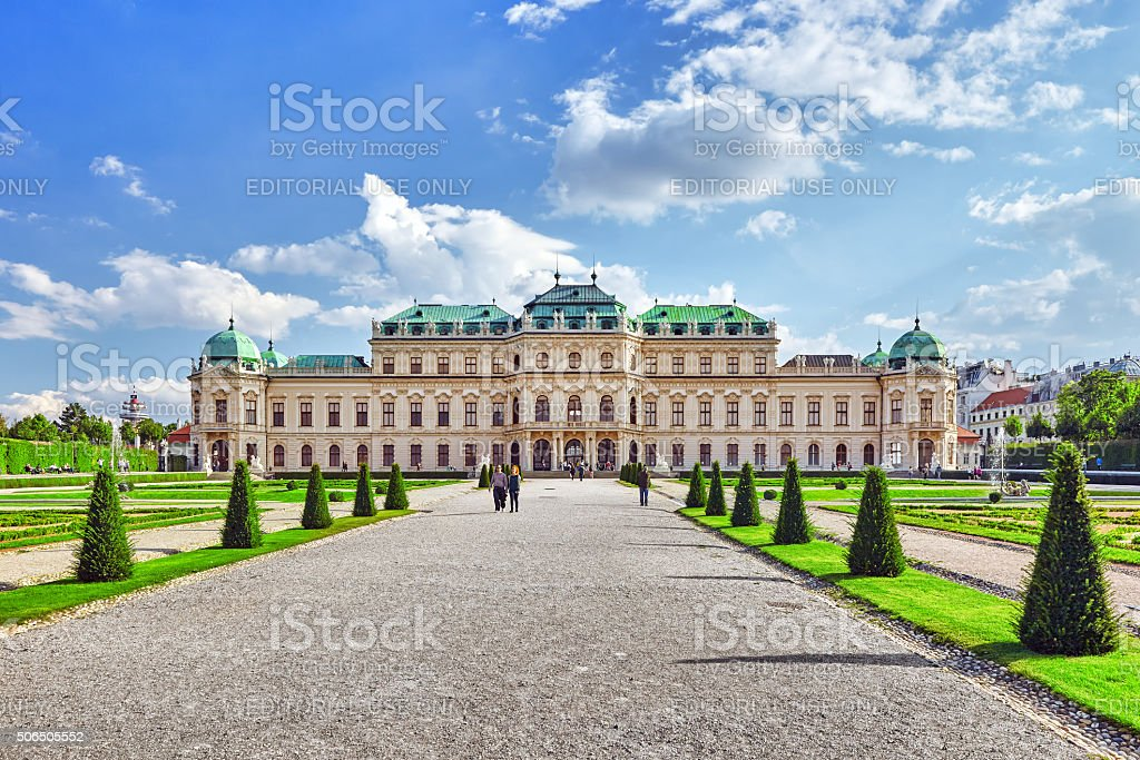 Upper Belvedere. Vienna stock photo