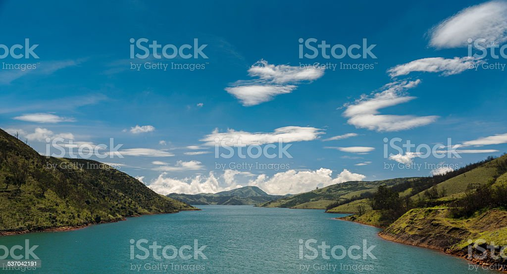 Upper Bhavani reservoir in Nilgiris stock photo