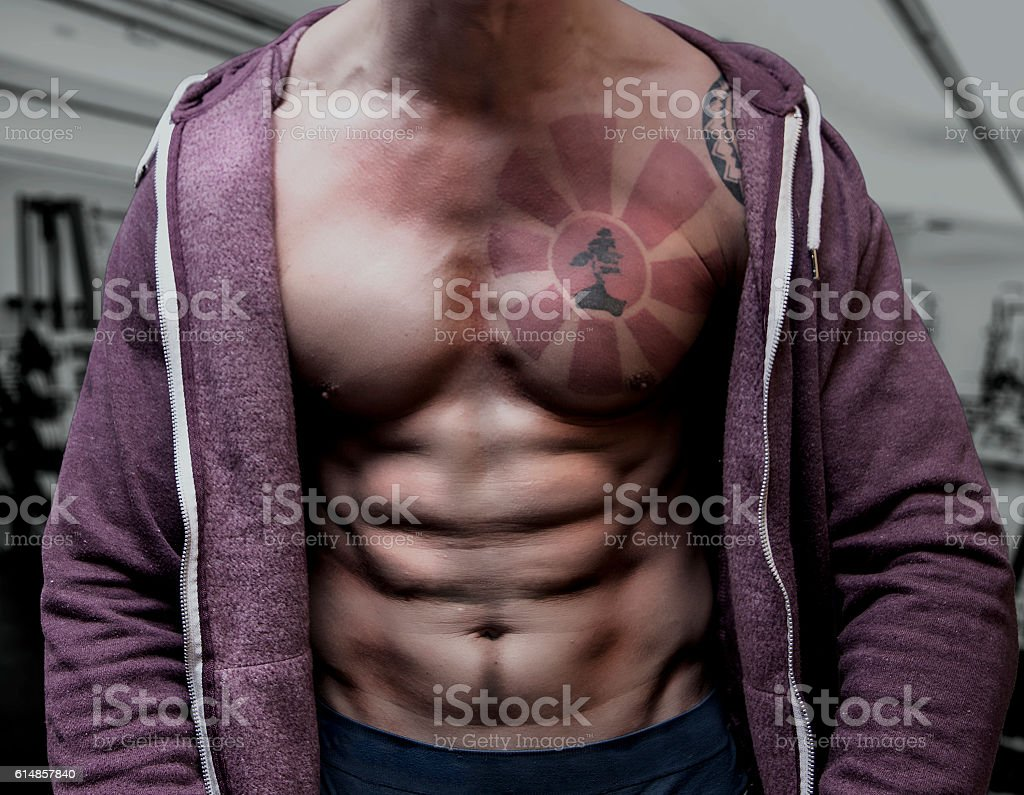 Upper body muscles stock photo