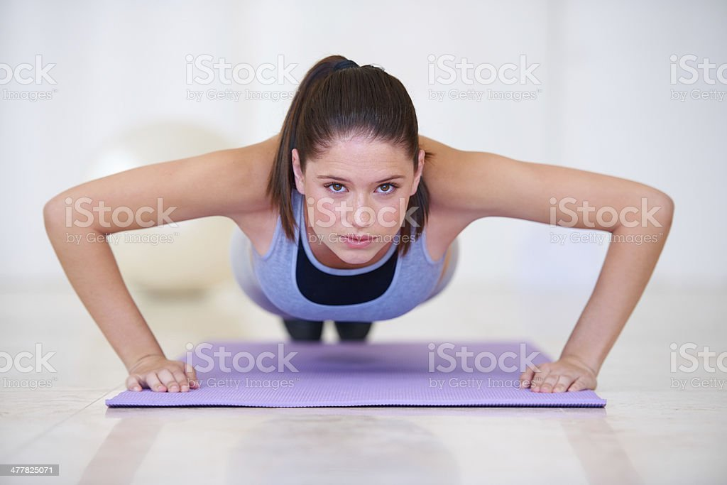 Upper body workouts royalty-free stock photo