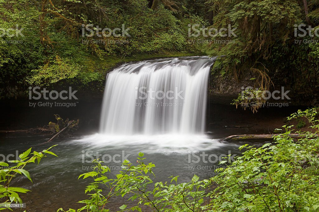 Upper Butte Creek Falls stock photo