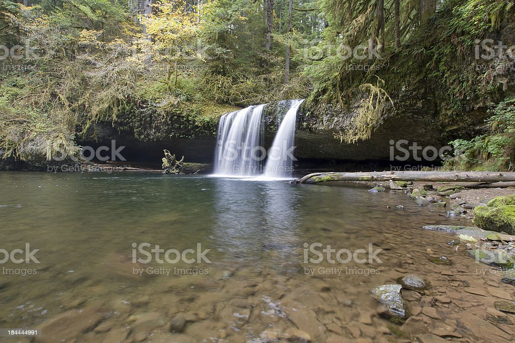 Upper Butte Falls in Oregon stock photo