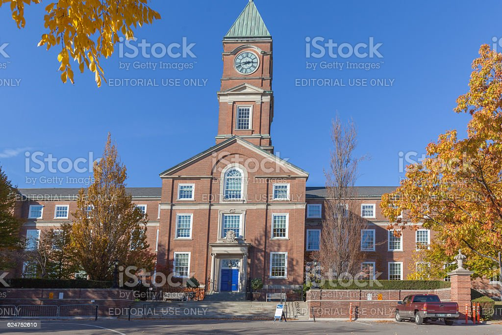 Upper Canada College Main Building in Toronto stock photo