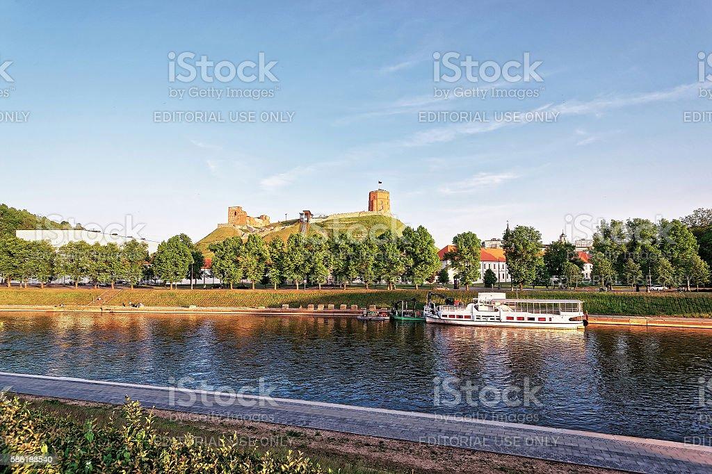 Upper Castle and Neris River in Vilnius stock photo