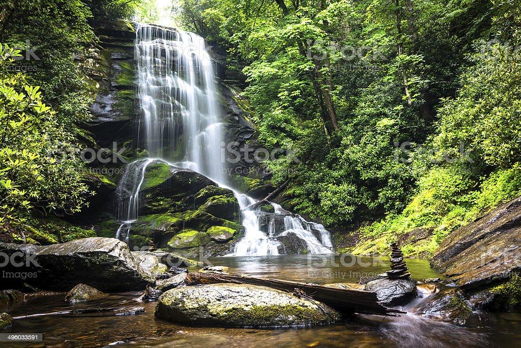 Upper Catabwa Falls stock photo