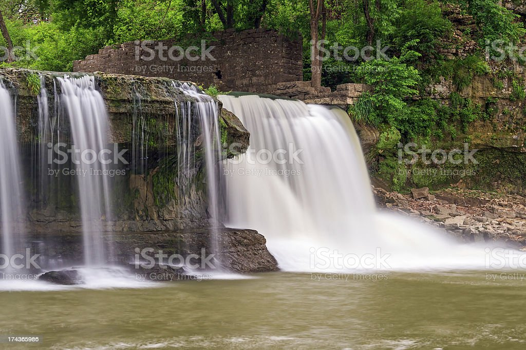 Upper Cataract Falls and Mill Ruins royalty-free stock photo