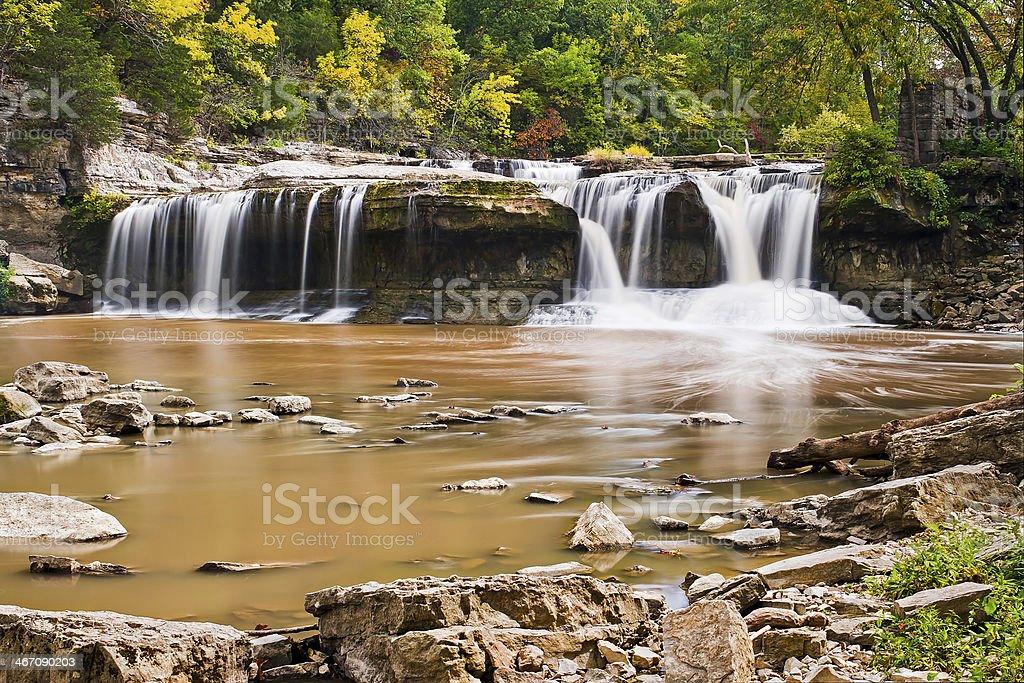 Cascate di cataratta superiore in Indiana foto stock royalty-free