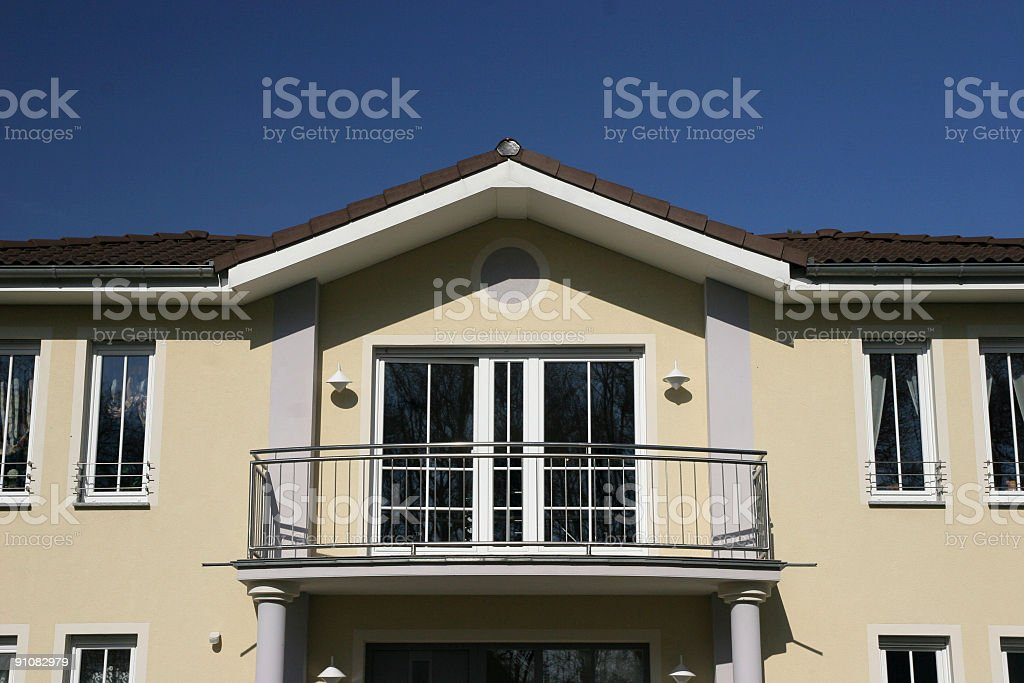 Upper class home facade royalty-free stock photo