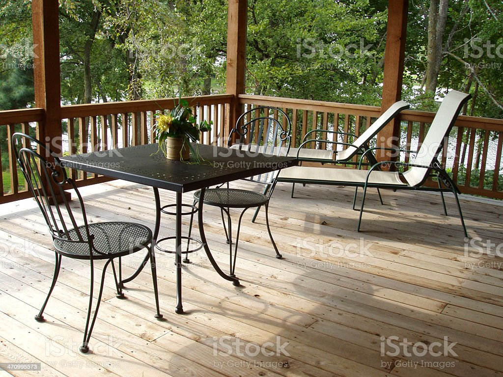 Upper Deck - Patio royalty-free stock photo