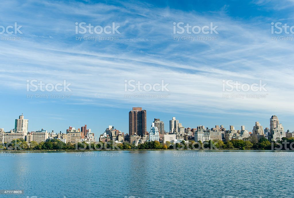 Upper East Side skyline of Manhattan royalty-free stock photo
