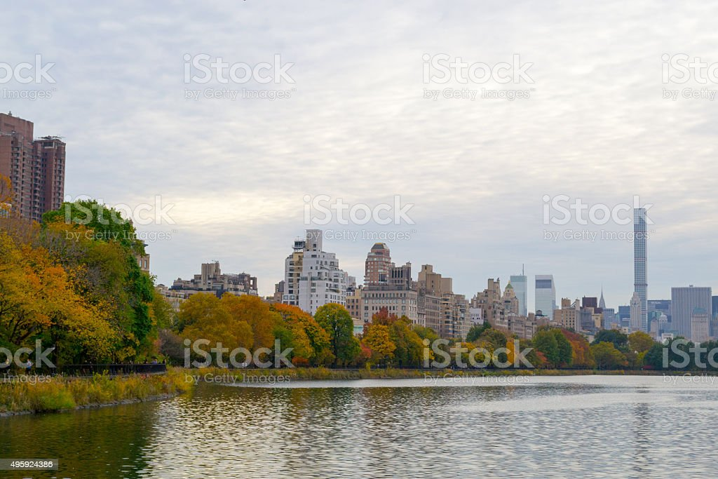 Upper East Side with colorful trees stock photo