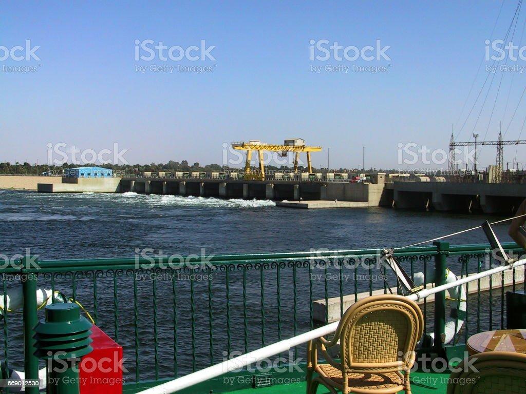 Upper Egypt – Esna. The Nile floodgate of Esna. stock photo