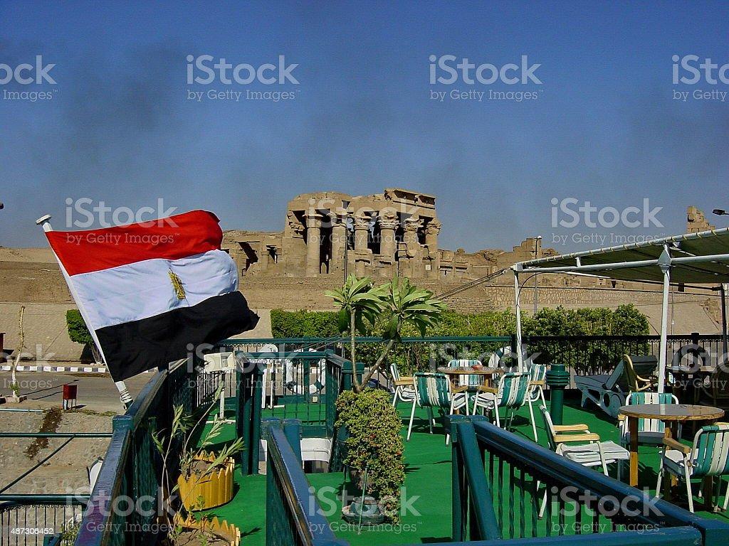 Upper Egypt. Kom Ombo, the Sobek and Haroeris (Horus) Temple stock photo