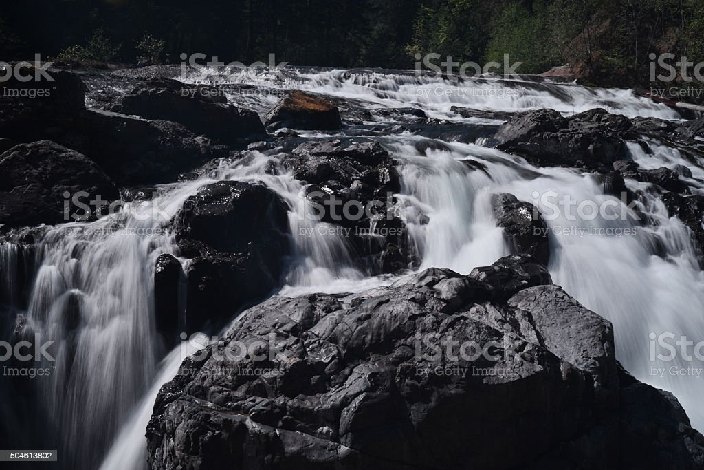Upper Englishman waterfalls in Nanaimo,Vancouver island,BC stock photo