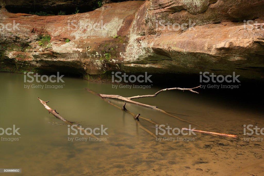 Upper Falls at Hocking Hills State Park, Ohio. stock photo