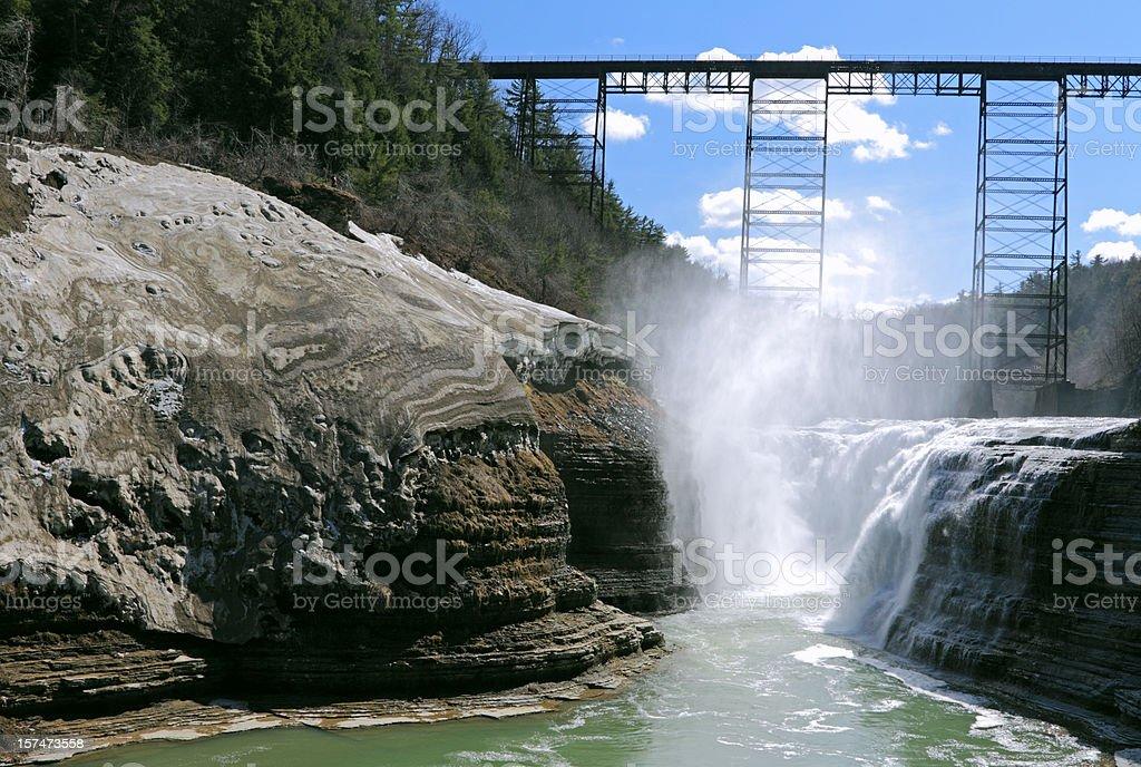 Upper Falls in Letchworth stock photo
