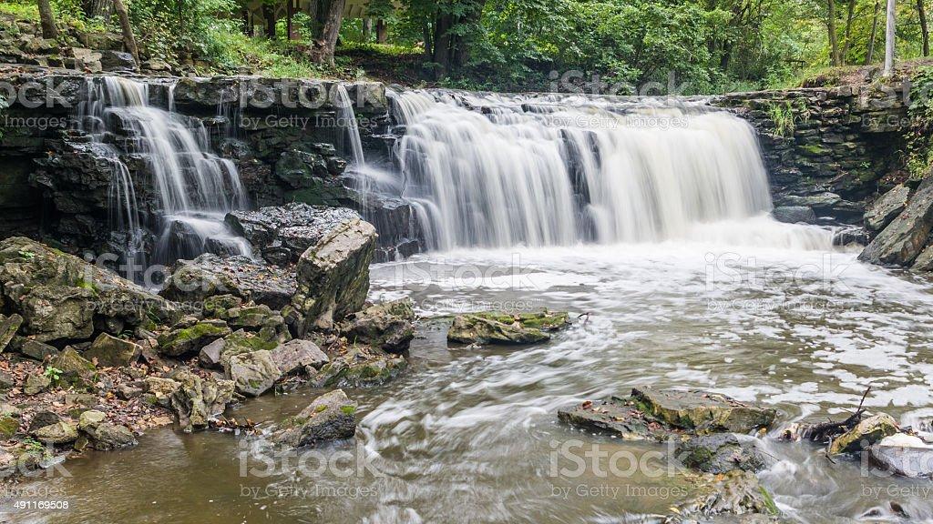 Upper Falls of Minneopa Creek stock photo
