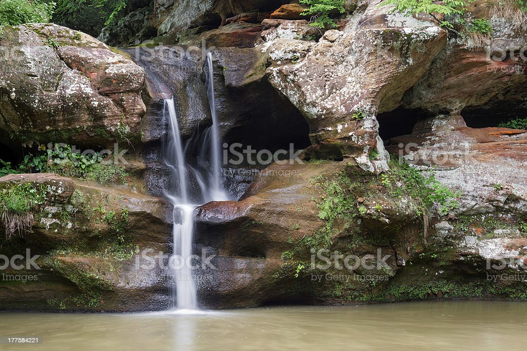 Upper Falls - Old Man's Cave royalty-free stock photo