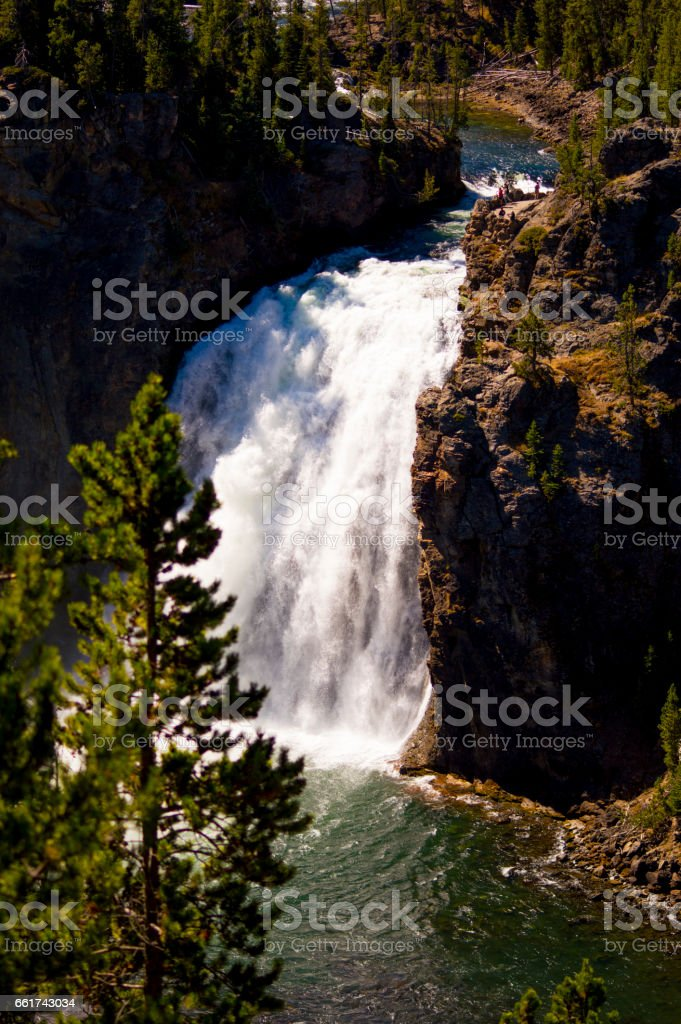 Upper Falls, Yellowstone National Park, USA stock photo