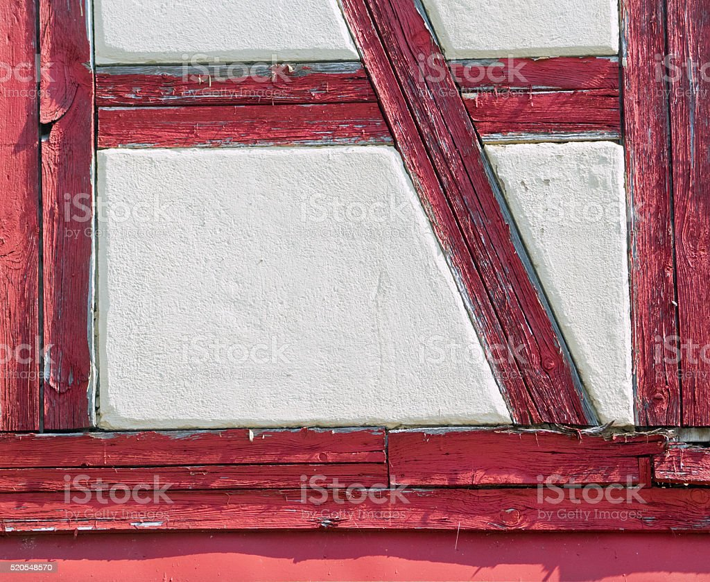 Upper Franconia: Detail of a half-timbered house in Bayreuth stock photo