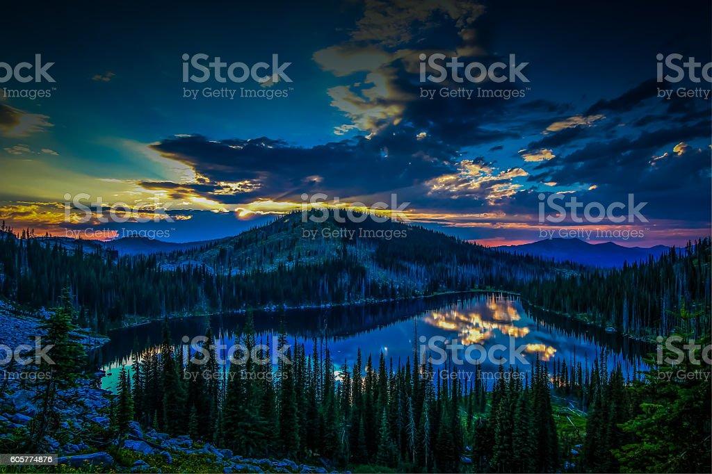 Upper Hazard Lake stock photo